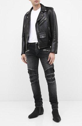 Мужские замшевые сапоги HUGO черного цвета, арт. 50435449 | Фото 2
