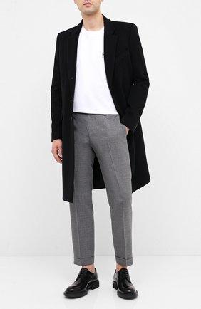 Мужской кожаные дерби HUGO черного цвета, арт. 50433653 | Фото 2
