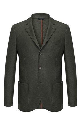 Мужской пиджак из смеси шелка и кашемира LORO PIANA зеленого цвета, арт. FAI2572 | Фото 1
