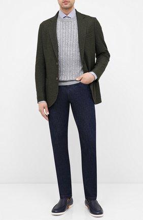 Мужской пиджак из смеси шелка и кашемира LORO PIANA зеленого цвета, арт. FAI2572 | Фото 2