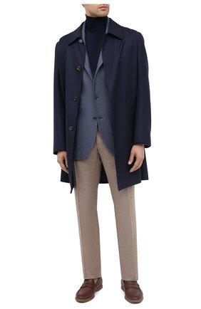 Мужской пиджак из шелка и кашемира LORO PIANA синего цвета, арт. FAI2572 | Фото 2