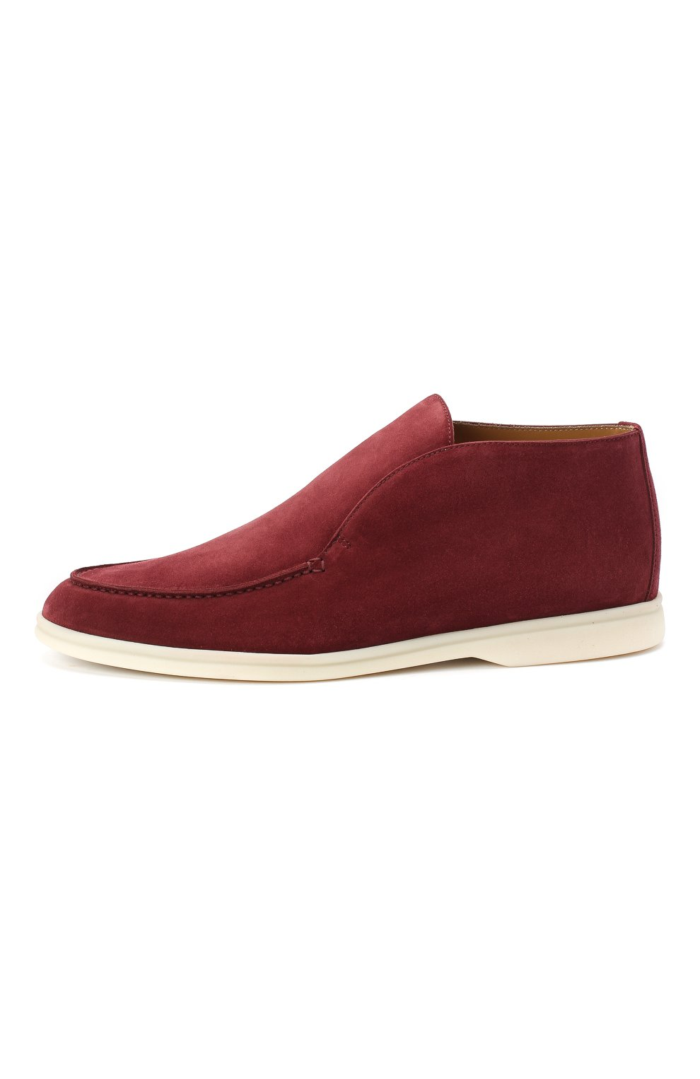 Мужские замшевые ботинки open walk LORO PIANA бордового цвета, арт. FAB4368 | Фото 3