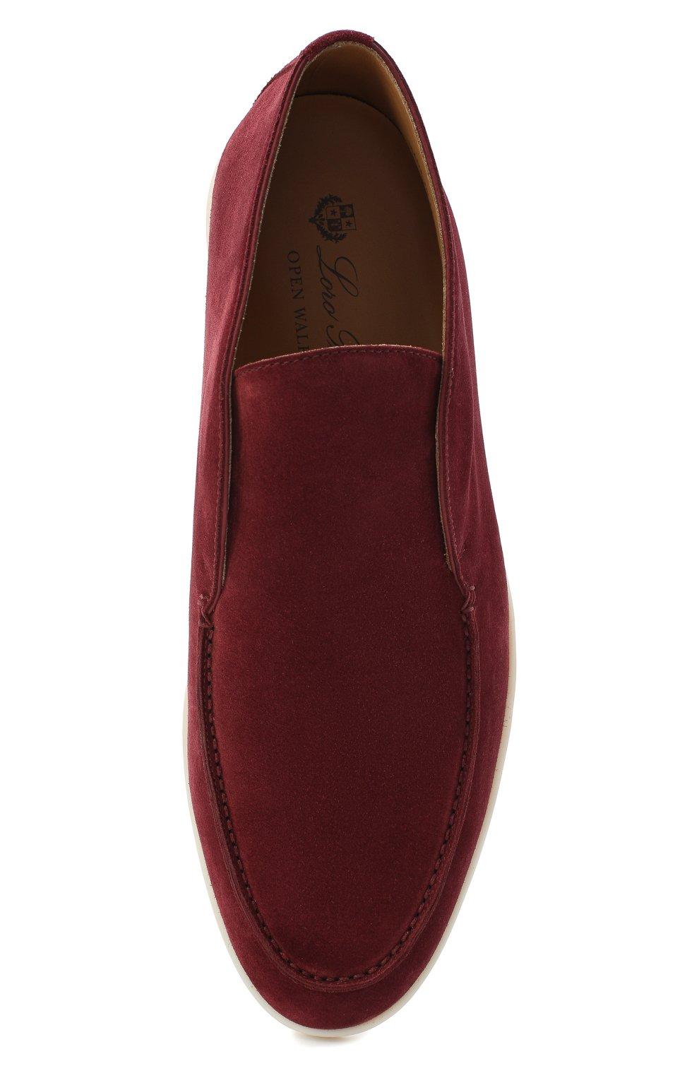 Мужские замшевые ботинки open walk LORO PIANA бордового цвета, арт. FAB4368 | Фото 5