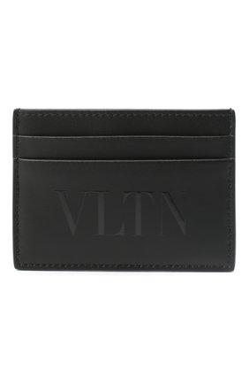 Мужской кожаный футляр для кредитных карт valentino garavani VALENTINO черного цвета, арт. UY2P0448/VNA | Фото 1