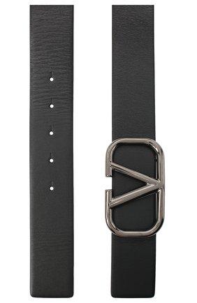 Мужской кожаный ремень valentino garavani VALENTINO черного цвета, арт. UY2T0Q87/AZR | Фото 2