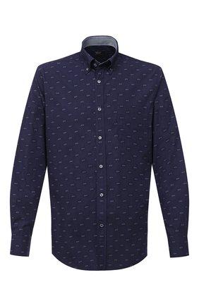 Мужская хлопковая рубашка PAUL&SHARK темно-синего цвета, арт. I20P3057 | Фото 1