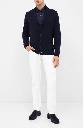 Мужская хлопковая рубашка PAUL&SHARK темно-синего цвета, арт. I20P3057 | Фото 2
