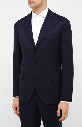 Мужской шерстяной костюм BRUNELLO CUCINELLI синего цвета, арт. ME2267BT7A | Фото 2
