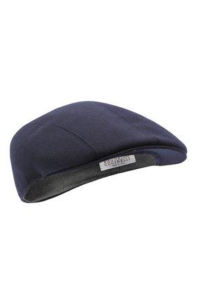 Мужская шерстяное кепи BRUNELLO CUCINELLI темно-синего цвета, арт. M038P9958 | Фото 1