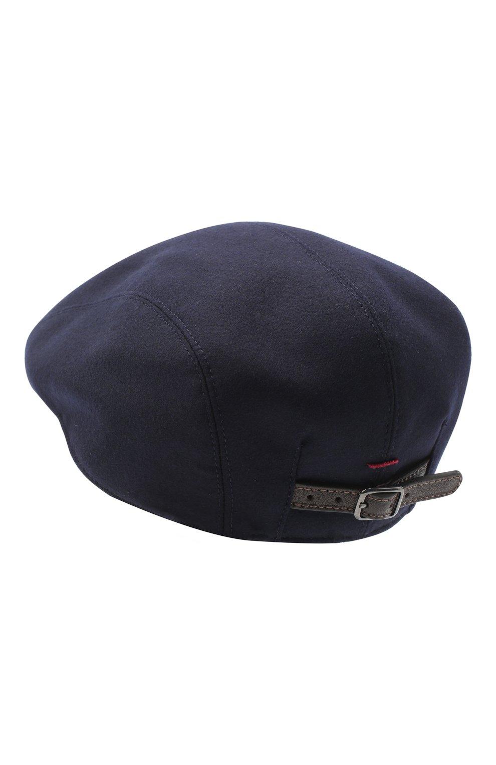 Мужская шерстяное кепи BRUNELLO CUCINELLI темно-синего цвета, арт. M038P9958 | Фото 2