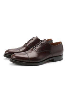 Мужские кожаные оксфорды W.GIBBS темно-коричневого цвета, арт. 8378003/0221 | Фото 1