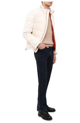 Мужской кашемировый свитер BRUNELLO CUCINELLI бежевого цвета, арт. M2229510 | Фото 2