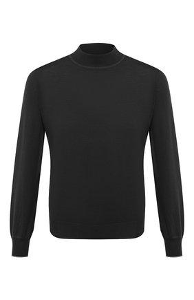 Мужской водолазка из шерсти и кашемира BRUNELLO CUCINELLI черного цвета, арт. M2400224 | Фото 1