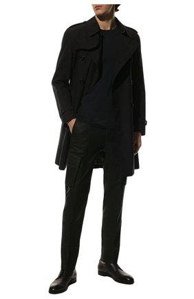 Мужская лонгслив из шелка и хлопка BRUNELLO CUCINELLI темно-синего цвета, арт. MTS377407 | Фото 2
