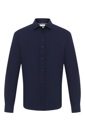 Мужская хлопковая рубашка BRUNELLO CUCINELLI темно-синего цвета, арт. ML6913029 | Фото 1
