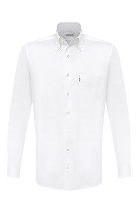 Мужская хлопковая сорочка ZILLI белого цвета, арт. MFU-10715-0299/0008   Фото 1