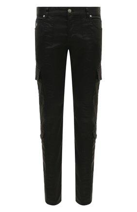 Мужской хлопковые брюки-карго BALMAIN черного цвета, арт. UH15377/Z043 | Фото 1