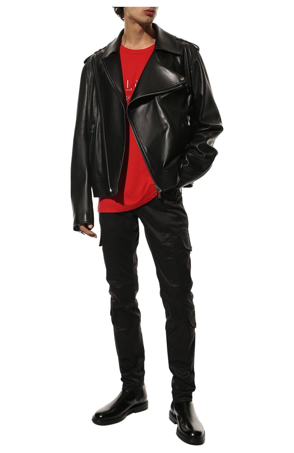 Мужские хлопковые брюки-карго BALMAIN черного цвета, арт. UH15377/Z043 | Фото 2 (Силуэт М (брюки): Карго; Длина (брюки, джинсы): Стандартные; Случай: Повседневный; Стили: Панк; Материал внешний: Хлопок)