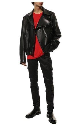 Мужской хлопковые брюки-карго BALMAIN черного цвета, арт. UH15377/Z043 | Фото 2
