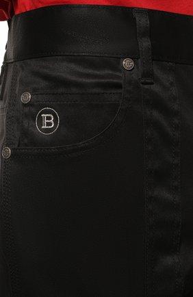 Мужские хлопковые брюки-карго BALMAIN черного цвета, арт. UH15377/Z043 | Фото 5 (Силуэт М (брюки): Карго; Длина (брюки, джинсы): Стандартные; Случай: Повседневный; Стили: Панк; Материал внешний: Хлопок)