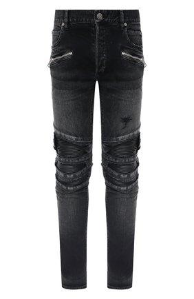 Мужские джинсы BALMAIN черного цвета, арт. UH15419/Z036 | Фото 1