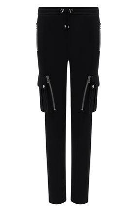 Мужской хлопковые брюки-карго BALMAIN черного цвета, арт. UH15761/I368 | Фото 1