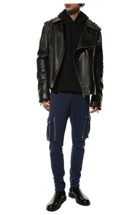 Мужской хлопковые брюки-карго BALMAIN темно-синего цвета, арт. UH15761/I368 | Фото 2