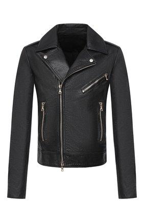 Мужская кожаная куртка BALMAIN черного цвета, арт. UH18137/Z307 | Фото 1