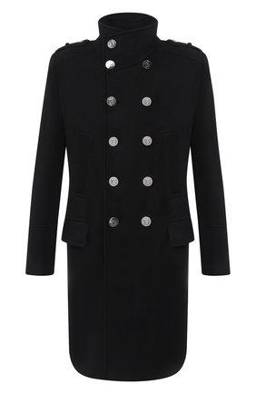 Мужской шерстяное пальто BALMAIN черного цвета, арт. UH18419/W076 | Фото 1