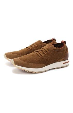 Мужские текстильные кроссовки 360 lp walk LORO PIANA темно-бежевого цвета, арт. FAI1540 | Фото 1