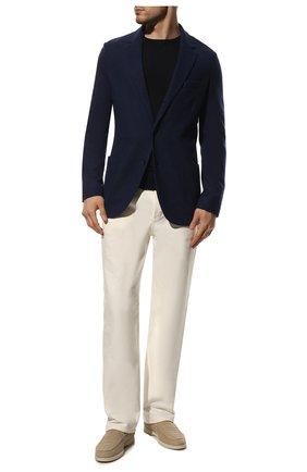 Мужской кашемировый пиджак LORO PIANA темно-синего цвета, арт. FAI2695 | Фото 2