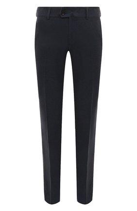 Мужской хлопковые брюки LORO PIANA темно-синего цвета, арт. FAF4206 | Фото 1