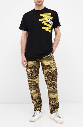Мужская хлопковая футболка RELIGION черного цвета, арт. 10BLBG95 | Фото 2