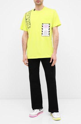 Мужская хлопковая футболка RELIGION зеленого цвета, арт. 10BACG95 | Фото 2