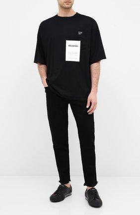 Мужская хлопковая футболка RELIGION черного цвета, арт. 10B0VG29 | Фото 2
