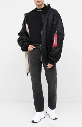 Мужская хлопковый лонгслив HERON PRESTON черного цвета, арт. HMAB017F20JER0011001 | Фото 2