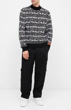 Мужской свитер HERON PRESTON черно-белого цвета, арт. HMHF001F20KNI0021001 | Фото 2