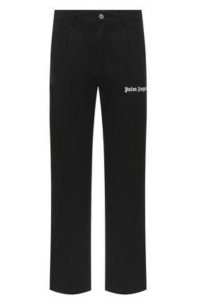 Мужской хлопковые брюки PALM ANGELS черного цвета, арт. PMCA081E20FAB0021010 | Фото 1