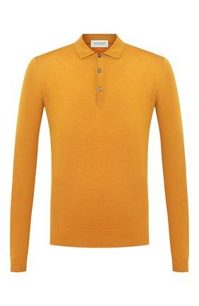 Мужское шерстяное поло JOHN SMEDLEY желтого цвета, арт. BELPER | Фото 1