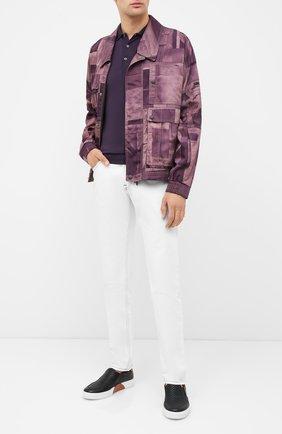 Мужское шерстяное поло JOHN SMEDLEY фиолетового цвета, арт. BELPER | Фото 2