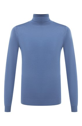 Мужской шерстяная водолазка JOHN SMEDLEY синего цвета, арт. CHERWELL | Фото 1