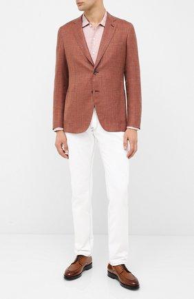 Мужская льняная рубашка ETON светло-коричневого цвета, арт. 1000 01340 | Фото 2