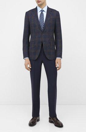 Мужская хлопковая сорочка BOSS голубого цвета, арт. 50433188 | Фото 2