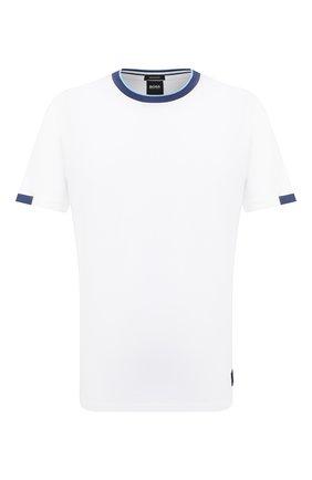Мужская хлопковая футболка BOSS белого цвета, арт. 50430177 | Фото 1