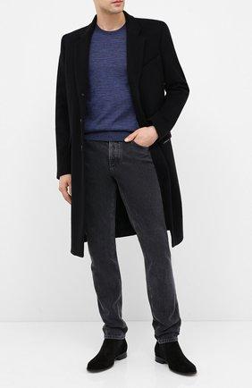 Мужской шерстяной джемпер BOSS темно-синего цвета, арт. 50378575 | Фото 2