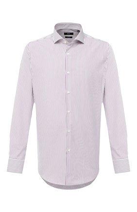 Мужская хлопковая сорочка BOSS бордового цвета, арт. 50433242 | Фото 1