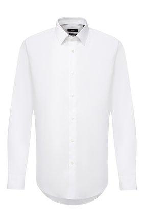Мужская хлопковая сорочка BOSS белого цвета, арт. 50432645 | Фото 1