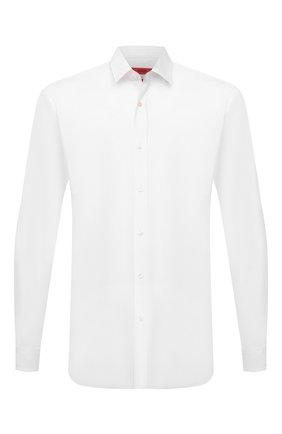 Мужская хлопковая сорочка HUGO белого цвета, арт. 50425897 | Фото 1