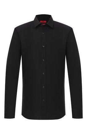 Мужская хлопковая сорочка HUGO черного цвета, арт. 50425897 | Фото 1