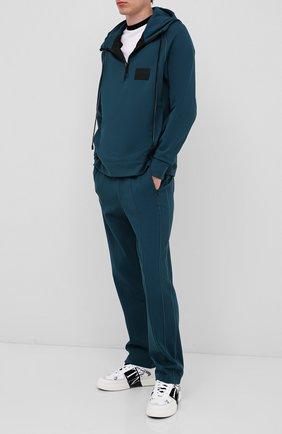 Мужской брюки CROW'S EYE зеленого цвета, арт. LE 56 | Фото 2